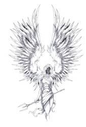 Archangel Tattoo Design by ShawnCoss