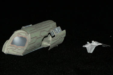 Stargate F-302 and Puddlejumper Paper model by ThunderChildFTC