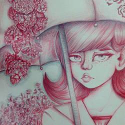 Umbrella Girl but not a Doodle??? by FellyBear