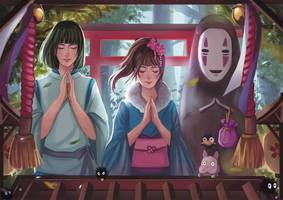 SPIRITED AWAY by rei-kaa