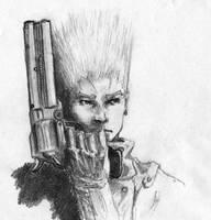 Vash Trigun sketch by ninjason57