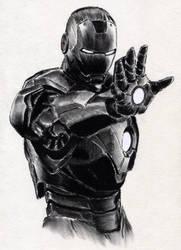 Iron Man Charcoal by ninjason57