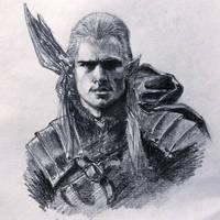 Legolas sketch by ninjason57