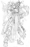 heavy armor angel by 19MicronHead
