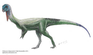 Plant-eater theropod from Chile by Xiphactinus