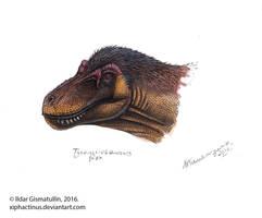 T-rex portrait by Xiphactinus