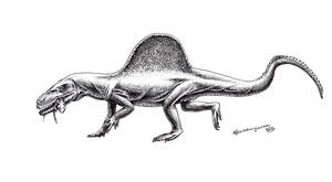 Xilousuchus sapingensis by Xiphactinus