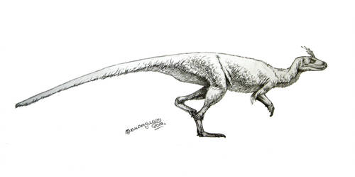 Lesothosaurus diagnosticus by Xiphactinus