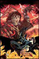 Batman Vs Scarecrow by puzzlepalette