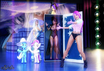 Maya, Trixie, and Starlight: The Show Must Go On by Axel-Doi