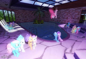Spa Ponies Pool Section by Axel-Doi