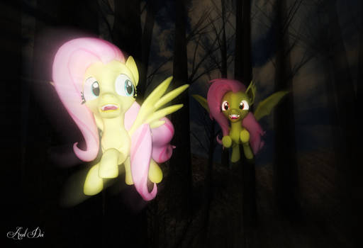Fluttershy vs. Flutterbat (Merge With Me) by Axel-Doi