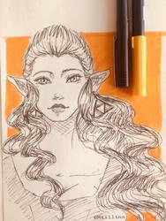 Little Zelda Sketch #1 by Maiilinn