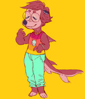 new fursona Ollie by SteamboatOllie