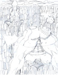 Archgod In Front Of Castle! by rickchart