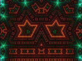 Alien Hieroglyphs - The Alien Flatand Fractal by titoinou