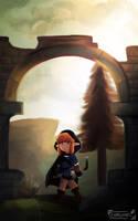 Zelda Breath of the Wild - Arch Way by Chromel