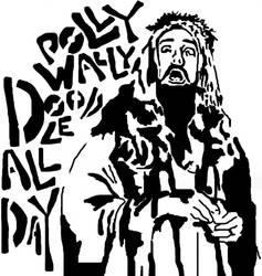 Stencil - Micallef as Jesus by jesustrashcan