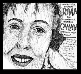Rima Te Wiata birthday card by jesustrashcan