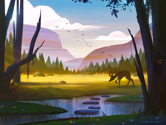 Stylized Environment Art Test by DylanPierpont