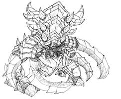Starcraft 2 Zerg Ultralisk by Kerberos-of-Hades