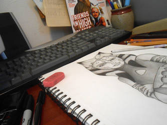 My work space by Sioban-Mckey