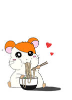 Hamtaro loves Ramen by Sioban-Mckey