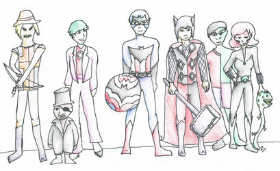 Avengers/Batman Character Crossover by glindalover