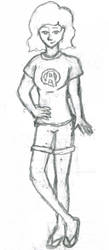 Black Widow 5 minute sketch by glindalover