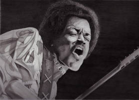 Jimi Hendrix (pencil) by mchurchill1982