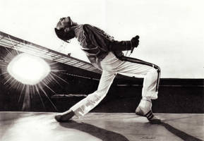 Freddie Mercury (Queen Live at Wembley) by mchurchill1982