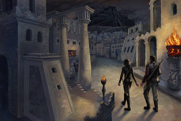 Commission: The dark city by Shade-of-Stars
