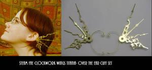 SteamFae Clockwork Wings Cuffs by pervyyaoifancier