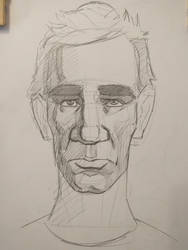 Portrait practice, eye brows by exuIam