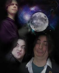 Three Arins and a Moon by batoutofbasement
