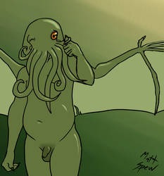 Naked Cthulhu Approves by GayMetal