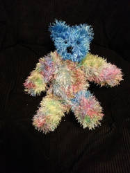 Knitted teddy bear by Cogsie