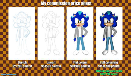 My commission price sheet by StefanTheHedgehog