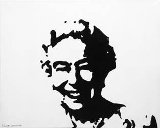 Banksy painting of Queen Elizabeth II by StefanTheHedgehog