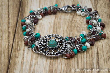 Chainmaille Concho Bracelet by youvegotmaille