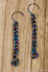 Niobium Jens Pind Linkage Earrings by youvegotmaille