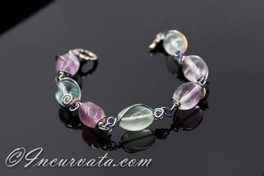 Flourite Wire Wrapped Bracelet by youvegotmaille