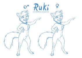 Ruki Gender Sketch by RukiFox