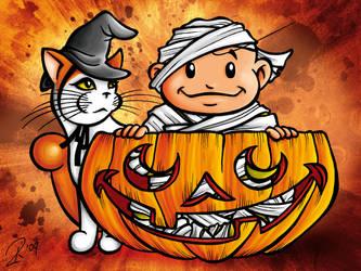 October or Peekaboo Pumpkin by spaceship505