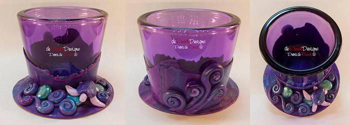 Purple Tealight Glass by spaceship505