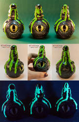 Poison Bottles With A Dragon's Eye by spaceship505