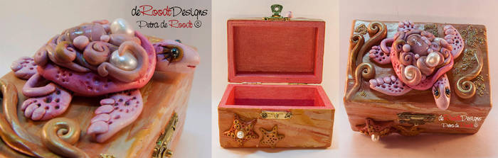 Pink Turtle Box by spaceship505
