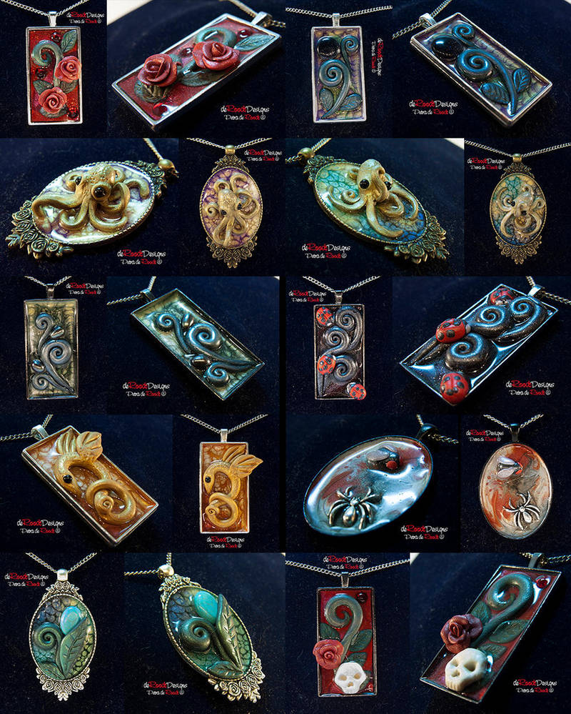 Metal Pendants Batch 2 by spaceship505