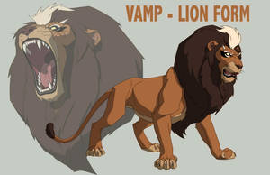 JUSTICE LEAGUE: CRISIS ON TWO EARTHS: VAMP as LION by Jerome-K-Moore