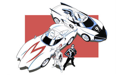 SPEED RACER and RACER X by Jerome-K-Moore